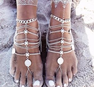 Jewelry - 🥂HP🥂COIN BRACELET SANDALS